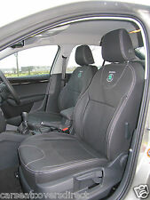SKODA OCTAVIA 3RD GEN BLACK CAR SEAT COVERS