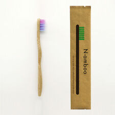 6 Pack Bamboo Toothbrush For 3+ Kids Children Colorful Bristles High Quality