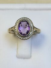 Lovely 9 Carat Yellow Gold AMETHYST Set Ring