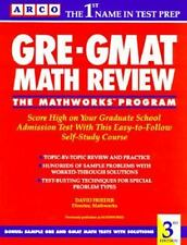 Mathworks Program: The GRE - GMAT Math Review by David Frieder (1992, Paperback)