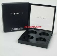 NIB MAC PRO COLOUR X 4 COMPACT EMPTY MAGNETIC EYE SHADOW PANS PALETTE QUAD NEW