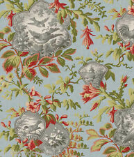 Toile  Birds of a Feather Blue Background Fabric  Wilmington Print 1/2 Yard Last