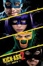 Kick-Ass 2 DOBLE CARA ORIGINAL película PÓSTER Regular one 1 Hoja Hit Niña