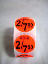 1000 1.5 Round Bright Red Special  2/7.00 Price Point Retail Labels Stickers
