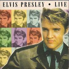Elvis Presley Live In Card Slipsleeve UK CD