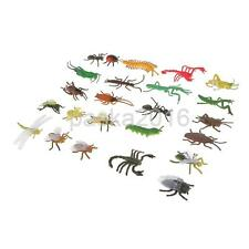 24Pcs Plastic Insects Bugs Display Model Animals Kids Party Prank Jokes Toys