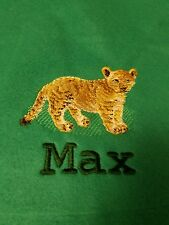 Personalized Embroidery Baby Blanket Baby Lion