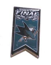 San Jose Sharks Lapel Pin Banner Design 2016 Stanley Cup Finals NHL Licensed