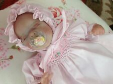 Tiny baby micro preemie reborn Wee Patience Laura Lee-Eagles, body plate, paci