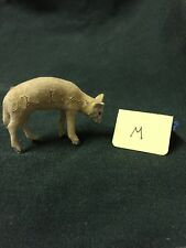 Vintage Tiny Flocked Standing German Miniature Christmas Sheep W/ Head Down -M