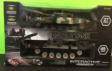 Set Of R/C Infrared Interactive Fighting BATTLETANKS New Collectible Gift