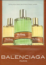Publicité Advertising 1981 Parfum  Ho Hang de BALENCIAGA