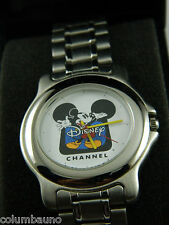 DISNEY CHANNEL SILVER TONE/ MEN'S WATCH/NEW IN BOX AND PAPERS
