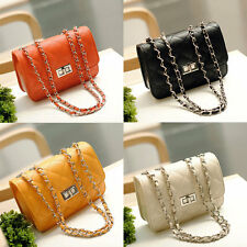 Women PU Leather Shoulder Chain Bag Messenger Handbag Crossbody Bags New JL