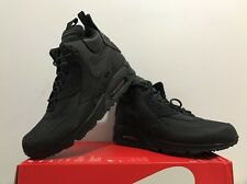 NEW Nike Air Max 90 Sneakerboot WNTR Shoe SIzE 8 Mens Black/Black 684714-002