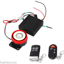 12V Motorcycle Bike Scooter Car Anti-theft Security Alarm System Remote Control