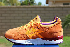 ASICS GEL LYTE V SZ 10 ORANGE POP PURPLE BURGUNDY WHITE H5D2L 3030