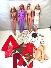 Vintage Lot of 4 Barbie Dolls /Sunsation Malibu PJ/Twist N Turn PJ/Fashion Queen