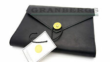 P.A.P Leather Covered Notebook/Writing Journal Black Great Quality Swedish Made