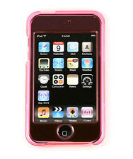 iPod i Pod Touch 2 3 2nd 3rd Gen Crystal Pink Soft Silicone Case Cover Protector