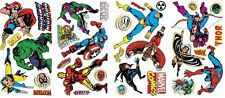 CLASSIC MARVEL 32 Wall Decals Iron Man Thor Hulk Room Decor Stickers Spiderman