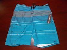mens O'Neill catalina board shorts 32 nwt blue gray stripe