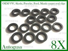 NEW OVAL VW SKODA FORD PORSCHE CAR MAT CLIPS FLOOR HOLDERS FIXING CLAMPS 8 X 8