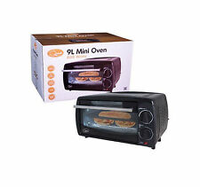NEW 9L MINI OVEN MINI TOASTER OVEN TABLE TOP GRILL WINDOW CAPACITY 800W SEALED