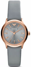 Emporio Armani Classic Watch Grey / Rose Gold Quartz Analog Women's Watch AR180