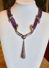 "HEIDI DAUS ""SPARKLING SENSATION"" MULTI-STRAND DROP NECKLACE BEAUTY & ELEGANCE!!!"