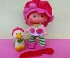 Vintage Strawberry Shortcake Doll Cherry Cuddler & Pet Gooseberry