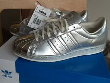 Adidas Superstar 80s Metallic Silver black white 9.5 Stan smith Ultra Boost Gold