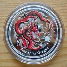 Australia Year of the Dragon 1 oz 2012 Proof Colored Silver Perth Mint