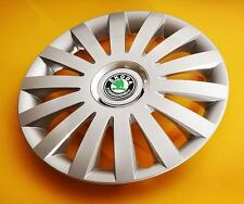 "SKODA Fabia,Octavia,Roomster...4x15"" ALLOY LOOK CAR WHEEL TRIMS/COVERS HUB CAPS"