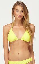 NWT Roxy Yellow Bikini String Tie Triangle Top & Essentail Surf Bottom NEW