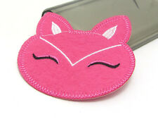 New Cute Cat Embroidered Applique Iron On Sew On Patch Cloth Pink