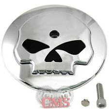 Chrome Skull Air Filter Cleaner Cover Insert For Harley Davidson Models Intake