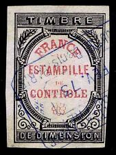 "1871-73 FRANCE REVENUE STAMP - ""ESTAMPILLE DE CONTROLE"" - USED - VF (ESP#9238)"