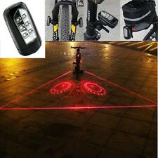 5Piece 1set Safety Cycling Bike Bicycle Laser Rear Light 6LED Tail Lamp 6 Modes