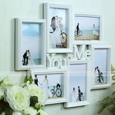 You & Me White Hanging Wall Decor Family Picture Frame Photo Collage Home Art