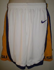 LSU Lady Mens TIGERS BASKETBALL SHORTS 36 NIKE Athletic LOUISIANA STATE Lined