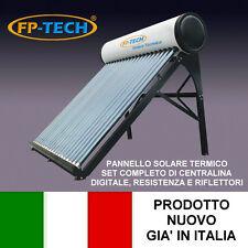 PANNELLO SOLARE TERMICO ACQUA CALDA ACCIAIO INOX 240 LT TUBI SOTTOVUOTO NATURALE