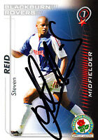 Blackburn Rovers F.C Steven Reid Hand 05/06 Premiership Shoot Out Signed Card.