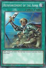 YU-GI-OH CARD: REINFORCEMENT OF THE ARMY - SDSE-EN028 1ST EDITION