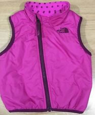 The North Face Full Zip Vest Pink Baby Toddler Size 12-18 Months