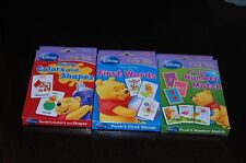 Disney Early Skills With Pool - Numbers,Color &Shapes,First Words - Flash Cards