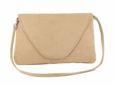 Attractive Large Faux Suede Clutch Bag/Shoulder Bag Wedding Party Occasion Bag