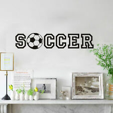 DIY Soccer Quote Removable Vinyl Wall Stickers Home House Decor Decal Sticker