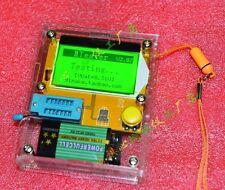 2016 Mega328 Transistor Tester Diode Triode inductor Capacitance ESR Meter +case