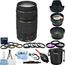 Canon EF 75-300mm f/4-5.6 III Lens (Black)!! MEGA BUNDLE BRAND NEW!!